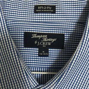 J.Crew Men's Blue Checked Button Down Shirt